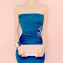 glamorous lady. Evening Dress
