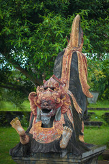 Traditional indonesian wooden sculpture