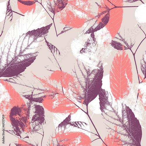 Tapeta Seamless vintage leaves background