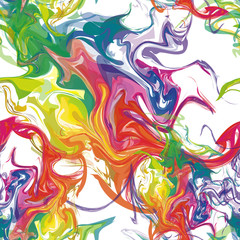 Seamless Background Colorful Stains of Paint