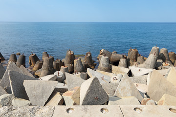 Concrete coastal fortifications