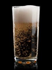 Glass of cold lemonade