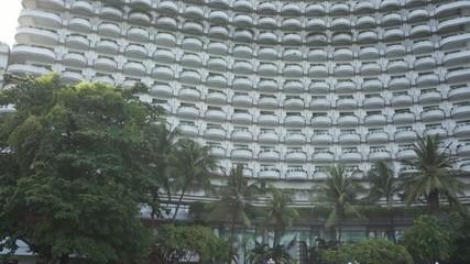 White high building hotel tower residential riverside
