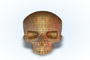 Brown Tile Skull Series II