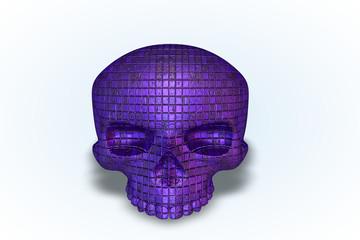 Purple Tile Skull Series II