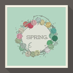 Abstract spring design with colorful beads. Vector illustration