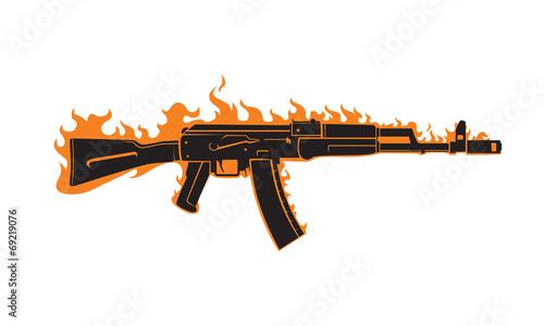 AK-47 vector - 69219076