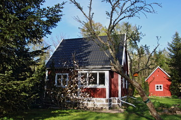 rotes Schweden Haus