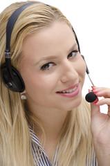 Call center beautiful girl