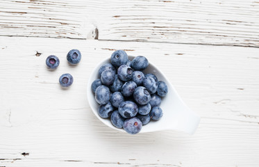Fresh blueberry fruits