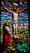 Obrazy na płótnie, fototapety, zdjęcia, fotoobrazy drukowane : Jesus on the cross - stained glass