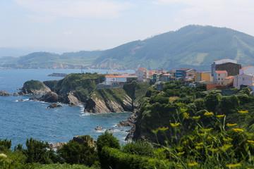Carino - beautiful village in the Rias Altas, Galicia, Spain
