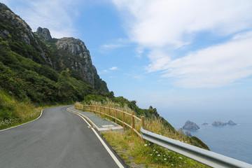 Cliff road in Galicia