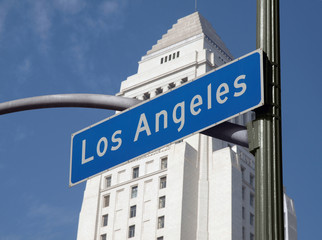 Los Angeles City Hall and Sign