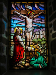 Crucifixion of Jesus Christ - stained glass
