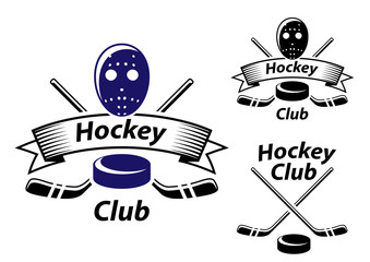 Ice hockey emblems and symbols