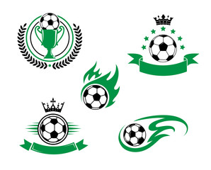 Football and soccer design elements