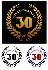 Anniversary jubilee celebration emblems