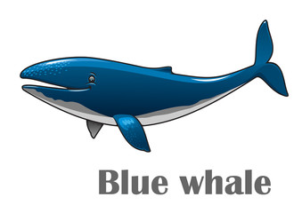 Cartoon blue whale