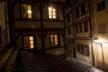 albrecht duerer place nuernberg at night