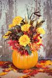 Autumn pumpkin flower arrangement