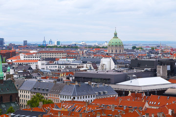 Roof tops of Copenhagen, Denmark.