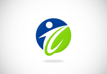 eco people health vector logo