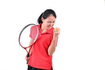 tennis player isolated