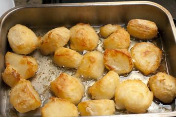 Delicious golden crispy roast potatoes