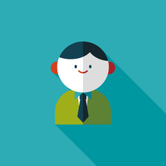 businessman flat icon with long shadow,eps10