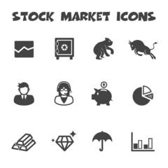 stock market icons