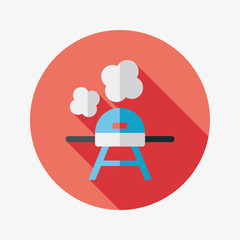 bbq flat icon with long shadow,eps10