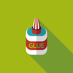 glue flat icon with long shadow,eps10
