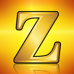 Z in gold Color on a Gold background.