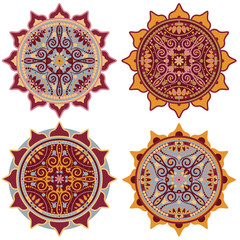 decorative mandala set