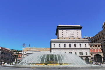 Brunnen Piazza de Ferrari