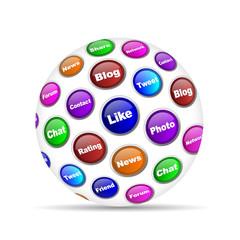 social media concept sphere