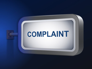 complaint word on billboard