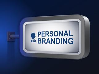 personal branding words on billboard