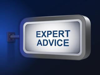 expert advice words on billboard