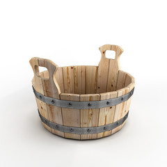 Wooden tub for washing