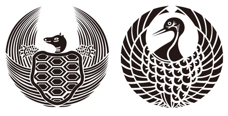 鶴亀 文様 家紋