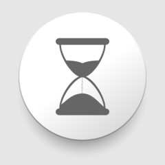 Hourglass time icon isolated