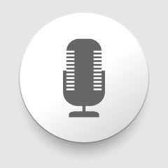 Retro microphone vector icon.