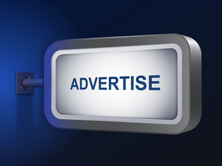 advertise word on billboard