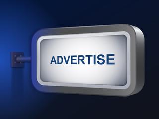 advertise word on billboard