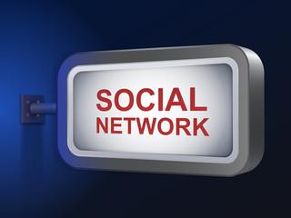 social network words on billboard