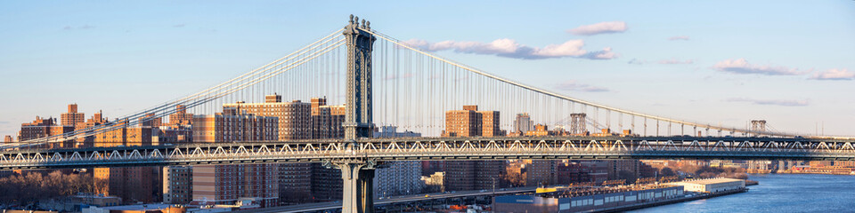 Panorama of Manhattan Bridge