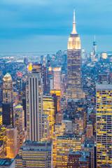 New York City skyline dusk USA