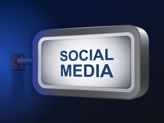 social media words on billboard